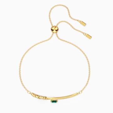 Tropical 手鏈, 綠色, 鍍金色色調 - Swarovski, 5519234