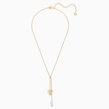 Collar Tropical, blanco, baño tono oro - Swarovski, 5519249