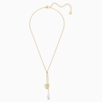 Tropical 项链, 白色, 镀金色调 - Swarovski, 5519249