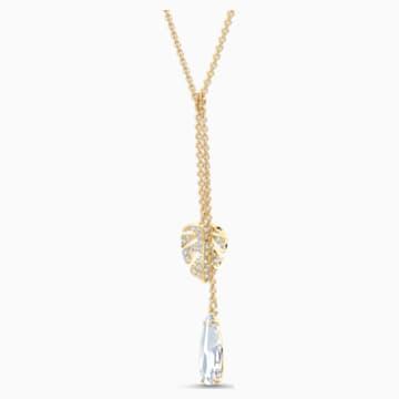 Náhrdelník Tropical, bílý, pozlacený - Swarovski, 5519249