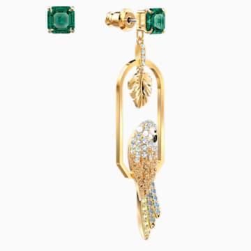 Orecchini Tropical Parrot, multicolore chiaro, placcato color oro - Swarovski, 5519255