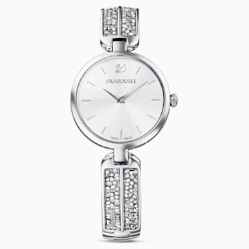 Dream Rock Watch, Metal bracelet, Silver Tone, Stainless steel - Swarovski, 5519309