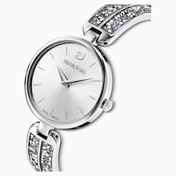 Dream Rock 腕表, 金属手链, 银色, 不锈钢 - Swarovski, 5519309
