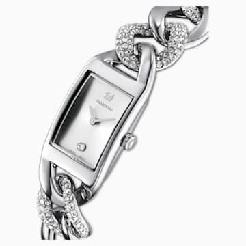 Montre Cocktail, full pavé, bracelet en métal, ton argenté, acier inoxydable - Swarovski, 5519330