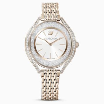 Reloj Crystalline Aura, brazalete de metal, tono dorado, PVD tono oro champán - Swarovski, 5519456
