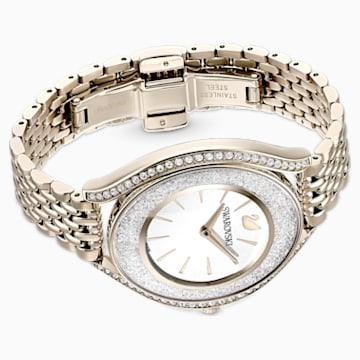 Crystalline Aura Watch, Metal Bracelet, Gold tone, Champagne-gold tone PVD - Swarovski, 5519456