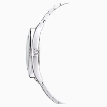 Crystalline Aura 手錶, 金屬手鏈, 銀色, 不銹鋼 - Swarovski, 5519462