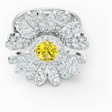 Prsten Eternal Flower, žlutý, smíšená kovová úprava - Swarovski, 5520366