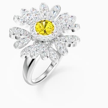 Eternal Flower 戒指, 黄色, 多种金属润饰 - Swarovski, 5520366