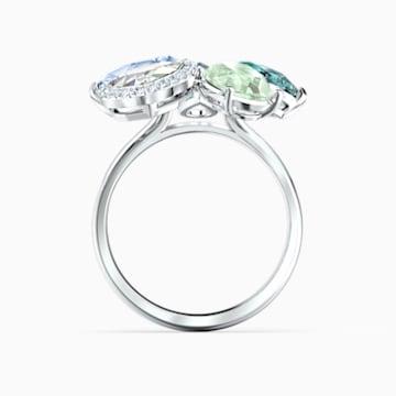 Δαχτυλίδι Sunny, πολύχρωμο σε ανοιχτούς τόνους, επιροδιωμένο - Swarovski, 5520491