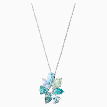 Sunny Flower Pendant, Light multi-colored, Rhodium plated - Swarovski, 5520492