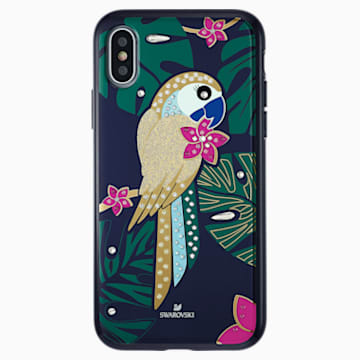 Tropical Parrot 智能手機防震保護套, iPhone® X/XS, 深色漸變 - Swarovski, 5520550