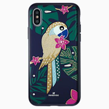 Tropical Parrot Smartphone Case with Bumper, iPhone® X/XS, Dark multi-coloured - Swarovski, 5520550