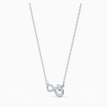 Swarovski Infinity 项链, 白色, 镀铑 - Swarovski, 5520576