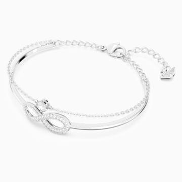 Swarovski Infinity 手镯, 白色, 镀铑 - Swarovski, 5520584