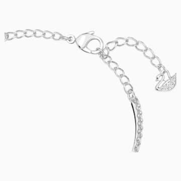 Brazalete Swarovski Infinity, blanco, baño de rodio - Swarovski, 5520584