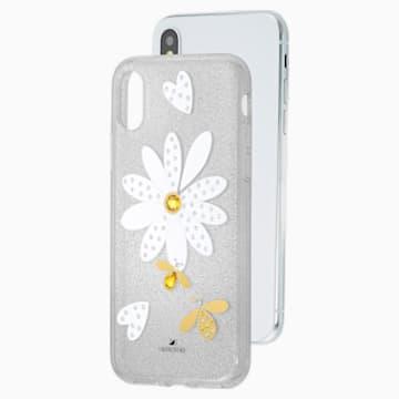 Eternal Flower Smartphone Case with Bumper, iPhone® X/XS, Light multi-coloured - Swarovski, 5520597