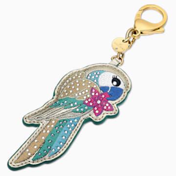 Accesorio para bolso Tropical Parrot, colores oscuros, baño tono oro - Swarovski, 5520615