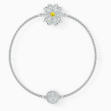 Strand Swarovski Remix Collection Flower, blanc, métal rhodié - Swarovski, 5520651