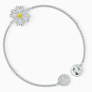 Strand Swarovski Remix Collection Flower, bianco, placcato rodio - Swarovski, 5520651