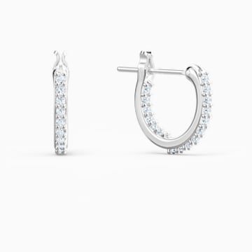 Boucles d'oreilles Lifelong Heart, blanc, finition mix de métal - Swarovski, 5520652