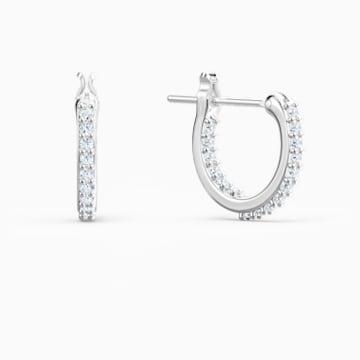 Pendientes Lifelong Heart, blanco, combinación de acabados metálicos - Swarovski, 5520652