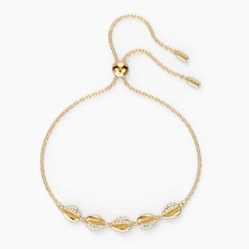 Bracelet Shell Cowrie, blanc, métal doré - Swarovski, 5520655