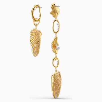 Boucles d'oreilles Shell Angel, multicolore clair, métal doré - Swarovski, 5520664