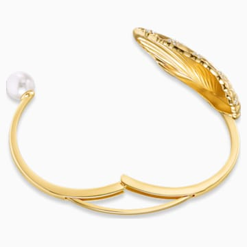 Shell Cuff, Light multi-colored, Gold-tone plated - Swarovski, 5520665