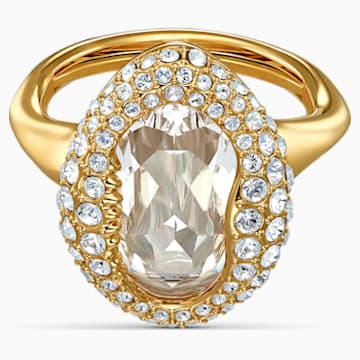 Shell gyűrű, fehér, arany árnyalatú bevonattal - Swarovski, 5520666