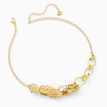 Collar Shell, colores claros, baño tono oro - Swarovski, 5520667