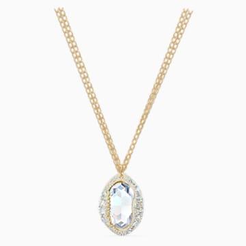 Pendente Shell, bianco, placcato color oro - Swarovski, 5520668