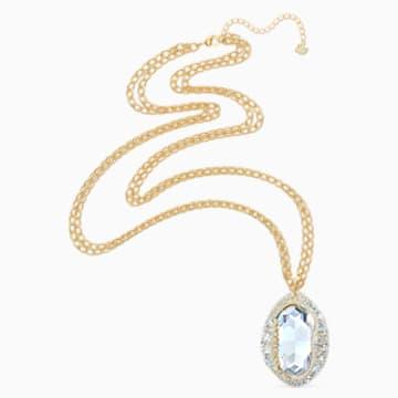 Pendentif Shell, blanc, métal doré - Swarovski, 5520668
