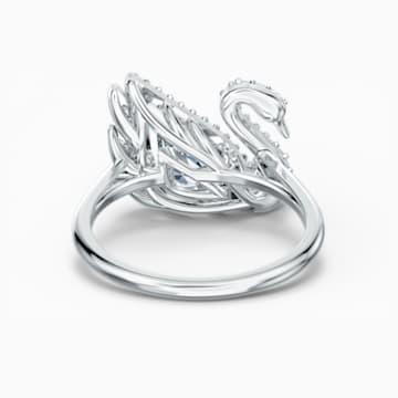 Anillo Dancing Swan, blanco, baño de rodio - Swarovski, 5520712