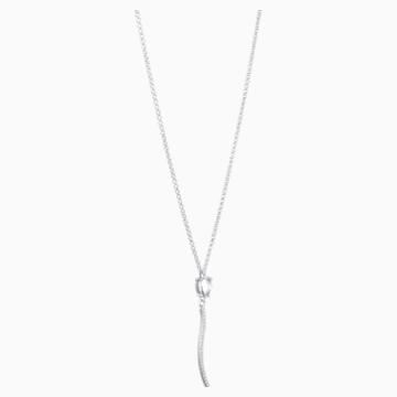 Arc-en-ciel Pendant Necklace, Swarovski Genuine Topaz & Swarovski Created Diamonds, 18K White Gold - Swarovski, 5521028