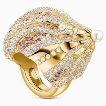 Sculptured Shells Ring, mehrfarbig hell, Metallmix - Swarovski, 5521036
