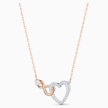 Parure Swarovski Infinity Heart, blanc, finition mix de métal - Swarovski, 5521040