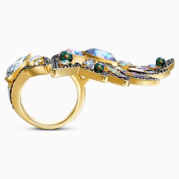 Shimmering Yüzük, Koyu renkli, Karışık metal bitiş - Swarovski, 5521066