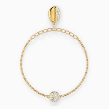 Strand Swarovski Remix Collection Shell, blanc, métal doré - Swarovski, 5521347
