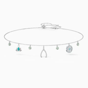 Swarovski Symbolic Charm Necklace, Light multi-coloured, Rhodium plated - Swarovski, 5521449
