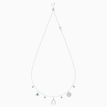 Collana Swarovski Symbolic Charm, multicolore chiaro, placcato rodio - Swarovski, 5521449