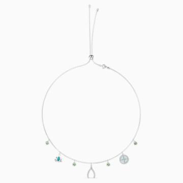 Swarovski Symbolic Charm Halskette, mehrfarbig hell, rhodiniert - Swarovski, 5521449