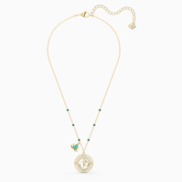 Pendentif Swarovski Symbolic Lotus, vert, métal doré - Swarovski, 5521451