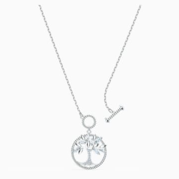 Swarovski Symbolic Tree of Life Halskette, weiss, rhodiniert - Swarovski, 5521463