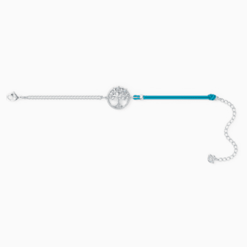 Pulsera Swarovski Symbolic Tree of Life, azul, baño de rodio - Swarovski, 5521494