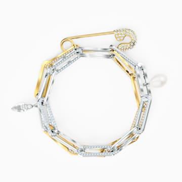 Pulsera So Cool Chain, blanco, combinación de acabados metálicos - Swarovski, 5521686
