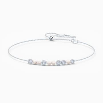 So Cool Halsband, weiss, rhodiniert - Swarovski, 5521693