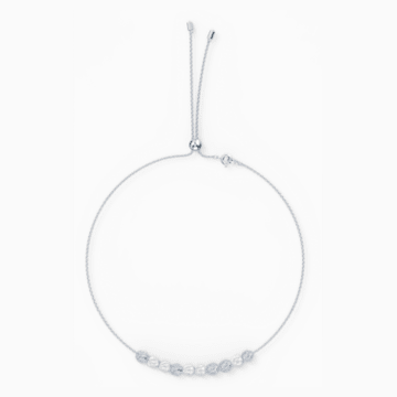 So Cool Choker, White, Rhodium plated - Swarovski, 5521693