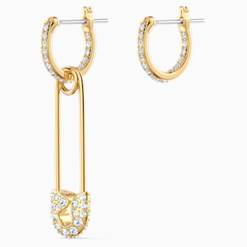 Boucles d'oreilles So Cool Pin, blanc, métal doré - Swarovski, 5521704