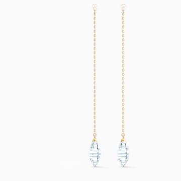 So Cool 穿孔耳環, 白色, 鍍金色色調 - Swarovski, 5521724